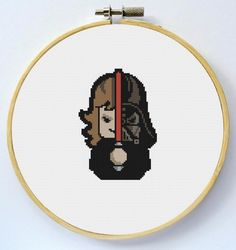 DARTH VADER Cross Stitch Pattern Instant by LaEsquinaDeLuna