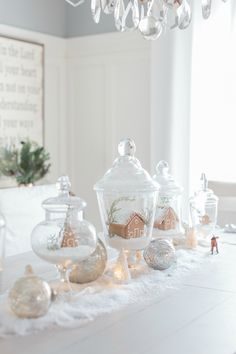 Gingerbread house apothecary jars