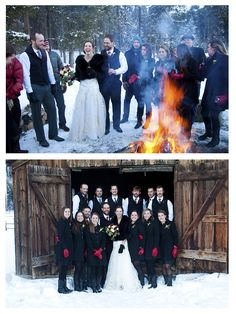 lissyparker.com Wyoming Winter wedding—great barn and bonfire ideas