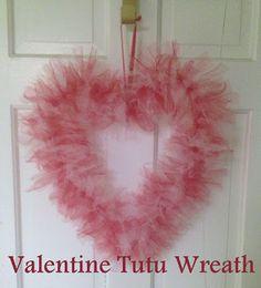 Valentine Tutu Wreath
