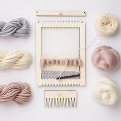Small Rectangular Weaving Loom Kit by Wool Couture Diy Craft Projects, Diy Crafts, Craft Ideas, Tapestry Weaving, Loom Weaving, Craft Kits For Kids, Folded Book Art, Craft Gifts, Craft Supplies