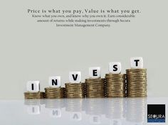 """Price is what you pay, Value is what you get. Know what you own, and know why you own it.""  Earn considerable amount of returns while making investments through Secura Investment Management Company."