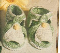 As Receitas de Crochê: Sapatinho de Bebê em crochê - receita ♡
