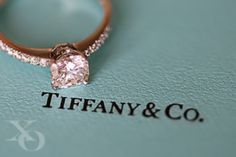 Pink diamond ring from Tiffany! perfection