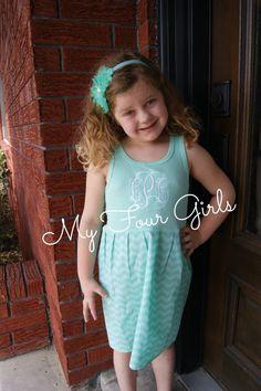Chevron Dress Mint Green Dress Girls Clothing Girls Tank Dress Girls Dress Birthday Dress Mom Daughter Dress Matching Mint Green Chevron by MyFourGirlsGifts on Etsy