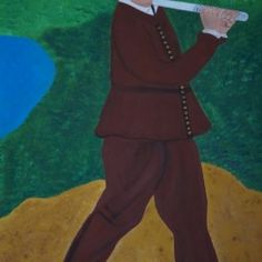 Golf players - Babetts Bildergalerie - The picture was painted with acrylic on canvas. Golf Player, Brushed Metal, Floating Frame, Stretched Canvas Prints, Canvas Artwork, Custom Framing, Wall Murals, Drawing Pictures, Print To Canvas