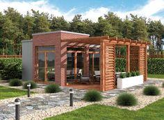 DOM.PL™ - Projekt domu PT KL4 Kuchnia letnia szkielet drewniany CE - DOM PD4-81 - gotowy projekt domu