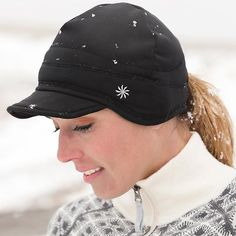 42b28f3e06a Running hat for cold weather. Even has ponytail hole in back.