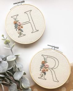 Floral Initial - 26 letters Patterns with Instructions || Digital Download