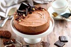 After eight -juustokakku (suklaapossu) Sweet And Spicy, Let Them Eat Cake, Cheesecakes, How To Make Cake, Cake Decorating, Decorating Ideas, Cake Recipes, Tart, Sweet Tooth