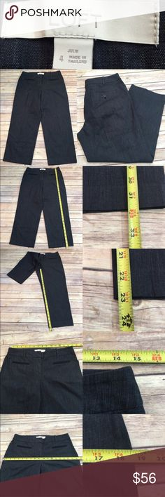 🌾Sz 4 Ann Taylor LOFT Julie Fit Cropped Pants Measurements are in photos. NEVER WORN, no flaws D2  I do not comment to my buyers after purchases, due to their privacy. If you would like any reassurance after your purchase that I did receive your order, please feel free to comment on the listing and I will promptly respond. I ship everyday and I always package safely. Thanks! LOFT Pants Ankle & Cropped
