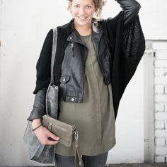 Zusss Vest-Sjaal, zwart / Cardigan-Scarf, black