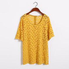 XXL-7XL Mode Floral Top En Dentelle Femmes de Grande Taille Blouse Chemise Plus La Taille Femmes Vêtements Vêtements 4XL 5XL 6XL
