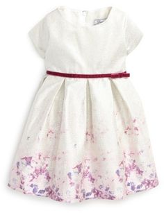 Infant Girl's Dorissa Liza Lame Floral Fit & Flare Dress