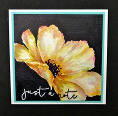 watercolor blossom just a note card by hobbydujour - Cards and Paper Crafts at Splitcoaststampers