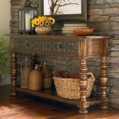 Foyer Table Option - Bassett Sonoma Console Table