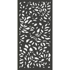 x 3 ft. Charcoal Gray Modinex Decorative Composite Fence Panel Featured in the Botanical – The Home Depot - Modern Decorative Fence Panels, Garden Fence Panels, Vinyl Lattice Panels, Vinyl Fence Panels, Laser Cut Panels, Decorative Metal, Fence Gate, Exterior Paint, Interior And Exterior