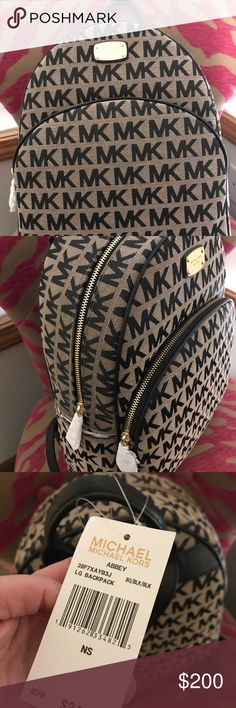 New with tags. This bag has a lot of room inside and would make a great gym, travel, or diaper bag. Michael Kors Backpack, Handbags Michael Kors, Convertible Stroller, Ns 200, 1 Day Sale, Fashion Design, Fashion Tips, Fashion Trends, Diaper Bag