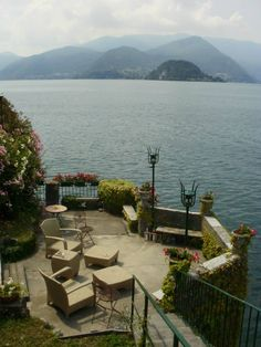 """The beautiful garden, overlooking Lake Como at """"Il Giardino Sul Lago"""", our place in Varenna, Italy."""