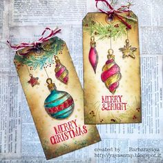 Christmas tags production continues! Today only inks and stamps (LOVE these stamps!!!!) #timholtz #tim_holtz #timholtzstencils #stampersanonymous  #rangerink #distressink #sizzix #ideaology #christmastime #christmas #myfavouritetimeoftheyear #lovetocreate