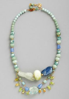 By the Sea Glass Necklace, #ModCloth