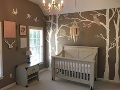 get inspired to create a trendy bedroom for little kids with these decorations and furnishings - Woodland Nursery Decor