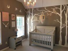 Baby girl woodland nursery
