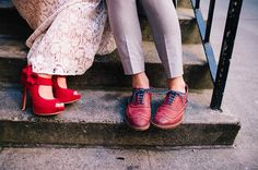 red shoes for the bride + groom!