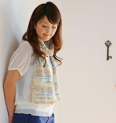 Ravelry: Celeste Scarf pattern by Pierrot (Gosyo Co., Ltd)
