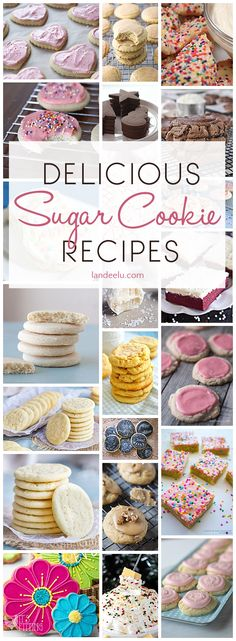 If you're looking for a delicious sugar cookie recipe you've come to the right place! Such an amazing variety of different kinds of sugar cookies to make!