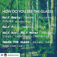 Yeah sag, lets smash the glass! # leo