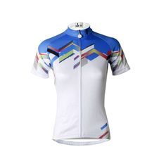 Ilpaladino Blue-Shoulder White Women s Quick Dry Short-Sleeve Cycling  Jersey Biking Shirts Breathable Summer Apparel Outdoor Sports Gear Clothes  NO.687 2dacbeff7