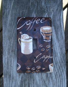 Coffee Light Switch Cover by WyldAngelz on Etsy, $6.29