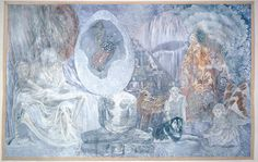 """Alchemical Works by Ann McCoy, 2009 """"Alchemy has to do with transformation, transmutation, and changes in the inner life which become manifest in the outer world.  Without the transformation of the individual, there can be no transformation in the collective. Alchemy connects the inner transformation process through fantasy to the outer world."""""""