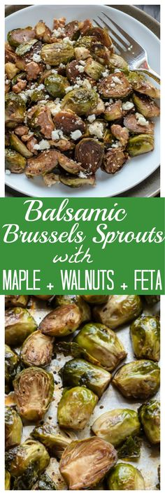 Balsamic Brussels Sprouts with Maple, Walnuts and Feta