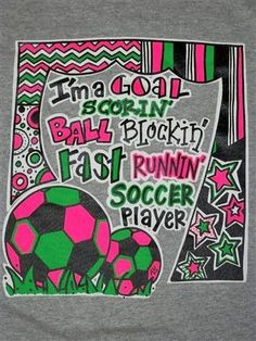 Southern Chics Funny Ball Blockin Soccer Player Chevron Girlie Sweet Bright T Shirt Available in sizes Youth XS-Youth XL, Adult S-3X