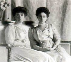 Grand Duchesses Olga and Xenia Alexandrovna