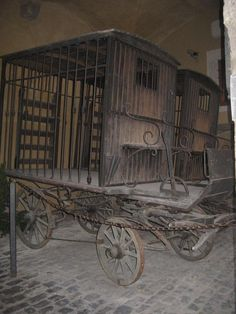carriages  used to transport criminals  abandoned. .                                                                                                                                                                                 More