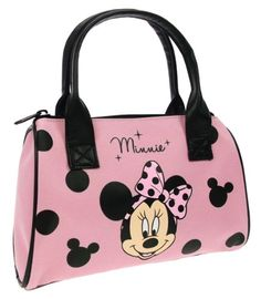 Disney Minnie Mouse Bowling Handbag (Pink/ Black)