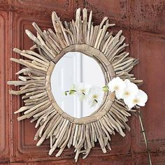 Mirrors always open up a space, so add this one to a significant wall for a wide-eyed interior experience.  Find the Sunshine Mirror, as seen in the Mirrors Collection at http://dotandbo.com/category/decor-and-pillows/mirrors?utm_source=pinterest&utm_medium=organic&db_sku=CCO0516