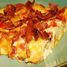 Charleston Breakfast Casserole - An easy, crowd-pleasing breakfast or brunch idea. Try playing with the ingredients to dress it up or down, depending on your food care health solutions tips What's For Breakfast, Breakfast Items, Breakfast Dishes, Breakfast Casserole, Breakfast Recipes, Christmas Breakfast, Christmas Morning, Health Breakfast, Country Breakfast