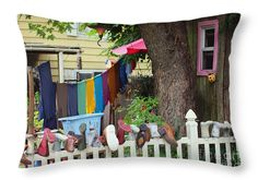 "Hanging Out To Dry Throw Pillow 20"" x 14"""