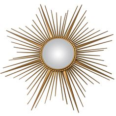Gilt Metal Chaty Vallauris Mirror   From a unique collection of antique and modern wall mirrors at http://www.1stdibs.com/furniture/mirrors/wall-mirrors/