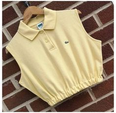 Polo Shirt Outfits, Crop Top Outfits, Mode Outfits, Cute Casual Outfits, Fashion Sewing, Diy Fashion, Fashion Outfits, Diy Clothing, Sewing Clothes