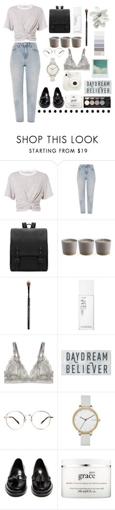 """Pure"" by r-bye ❤ liked on Polyvore featuring T By Alexander Wang, Topshop, Sigma, NARS Cosmetics, STELLA McCARTNEY, Skagen, Holga, Yves Saint Laurent, Fuji and philosophy"