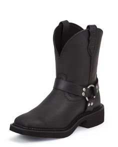 Justin Women's Black Crazy Horse Harness Boot Boot - L9991