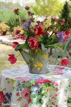 Spring Flowers Vintage Watering Can Monday Morning Blooms Spring Flowers Vintage Watering Can Monday Morning Blooms The post Spring Flowers Vintage Watering Can Monday Morning Blooms appeared first on Ideas Flowers.