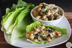 The Pampered Baby: Asian Chicken Lettuce Wraps