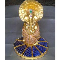 Buy Decorative Coconut With Ganesha online. Indian Wedding Gifts, Desi Wedding Decor, Indian Wedding Decorations, Wedding Crafts, Wedding Art, Thali Decoration Ideas, Diwali Decorations, Festival Decorations, Flower Decorations