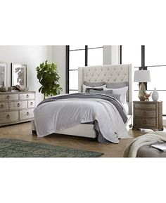 Gray King Bedroom Set Monroe Upholstered Bedroom Furniture Collection Created for Macy S Furniture, Mattress Furniture, Macy Furniture, Furniture Collection, King Bedroom Sets, Furniture Sets, Upholstered Bedroom, Bedroom Collections Furniture, Upholstered Full Bed